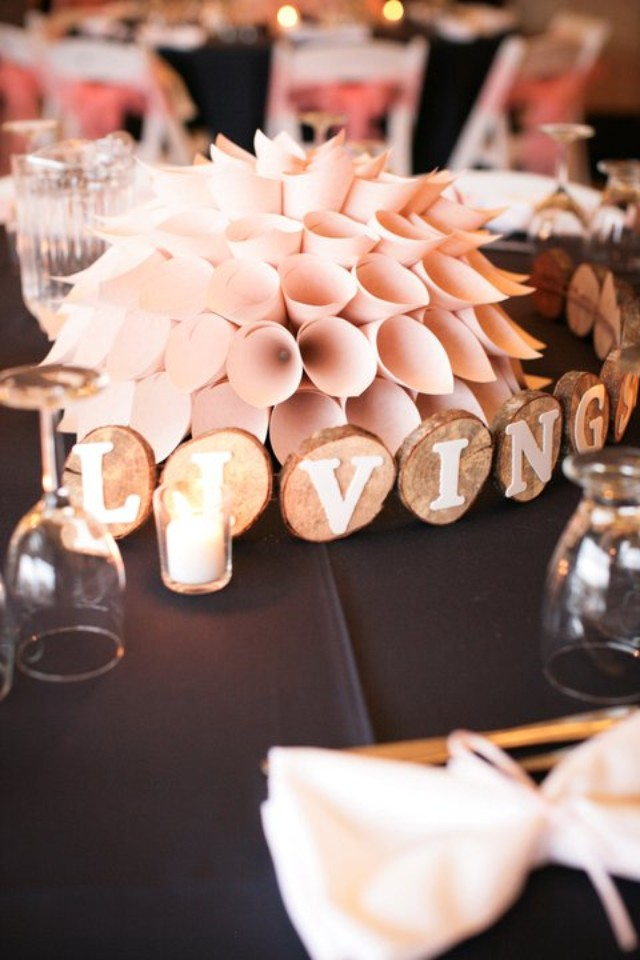 make a paper dahlia centerpiece | Best DIY Wedding Projects via https://emmalinebride.com/decor/best-wedding-diy-projects/