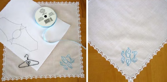 make wedding dress hankie
