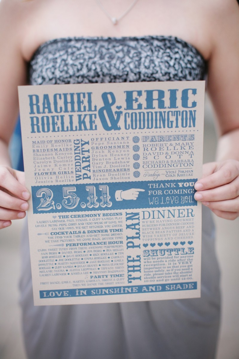 make your own wedding programs | Best DIY Wedding Projects via https://emmalinebride.com/decor/best-wedding-diy-projects/
