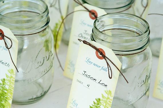 mason jar escort cards