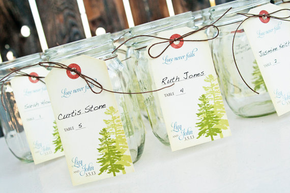 mason jar escort cards
