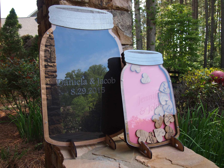 mason jar heart guest book by mister guest book   mason jar ideas weddings