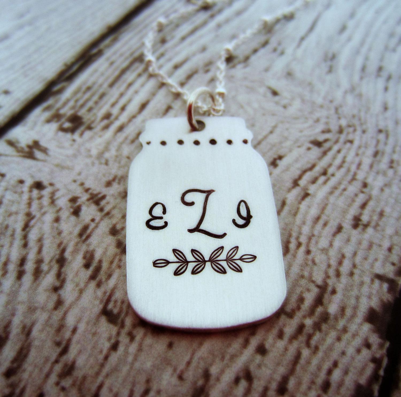 mason jar necklace by ellen b keepsakes   mason jar ideas weddings