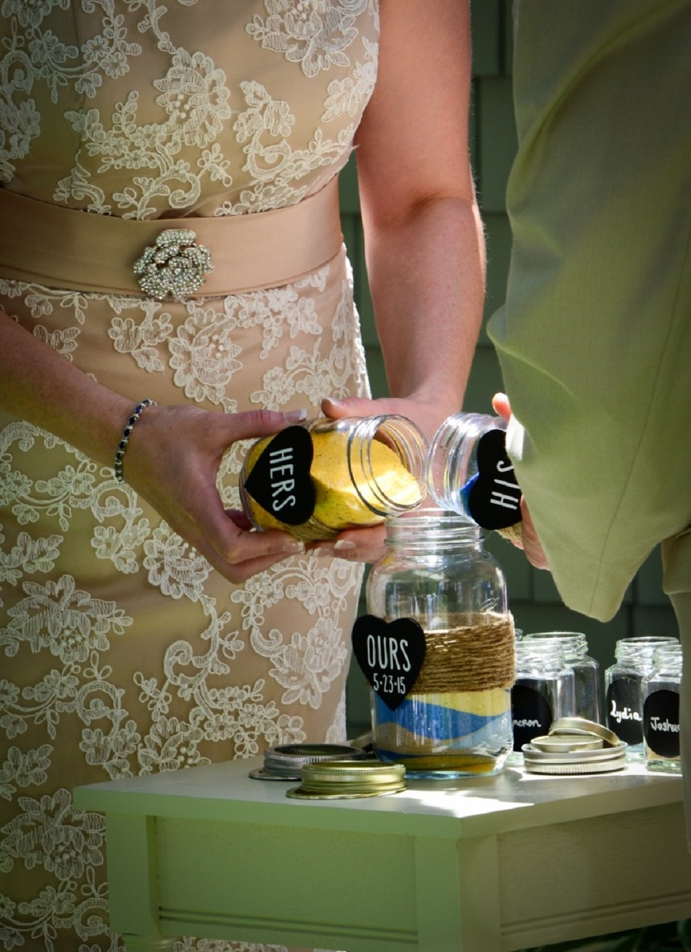 mason jar sand ceremony jars | mason jar ideas weddings