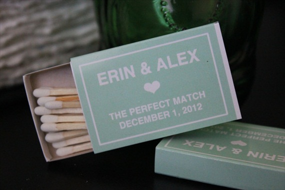 matchbox wedding favors personalized