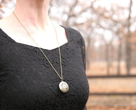 locket with note inside