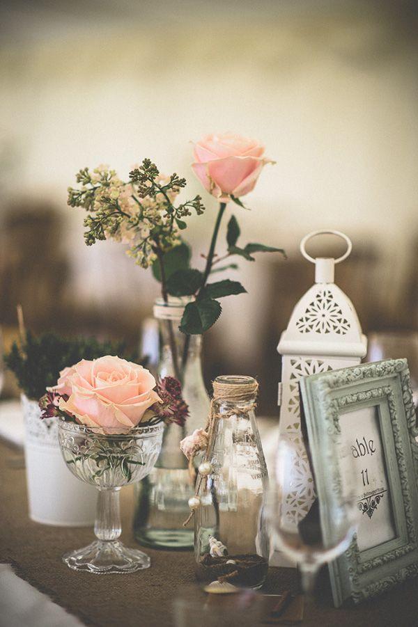 milk bottle wedding decor