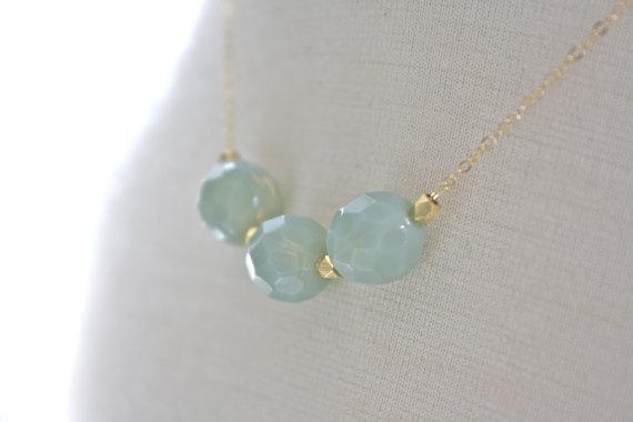 mint bauble necklace