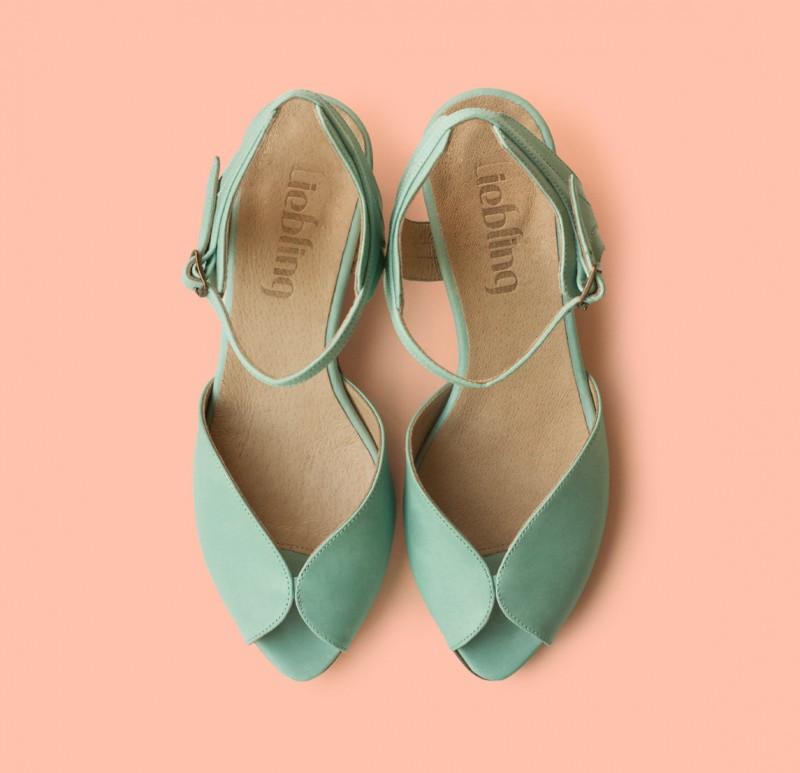 mint green shoes | via 31 Best Handmade Wedding Shoes https://emmalinebride.com/bride/handmade-wedding-shoes/