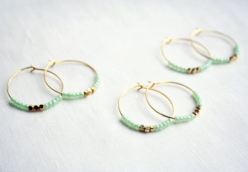 mint hoop earrings stocking stuffer via 5 under 25 jewelry gifts from laura stark