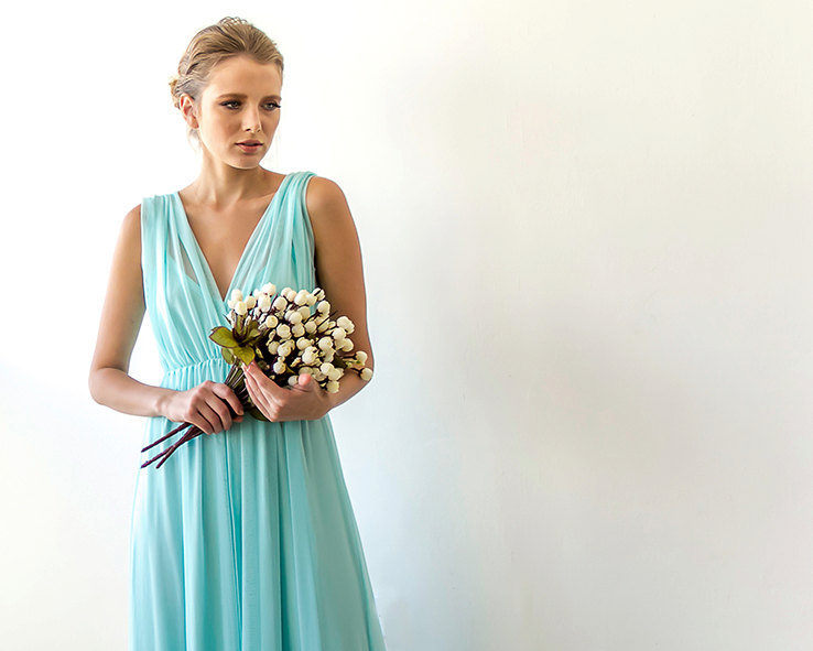 Mint Bridesmaid Maxi Dress | via Bridesmaid Maxi Dresses https://emmalinebride.com/bridesmaids/bridesmaid-maxi-dresses/