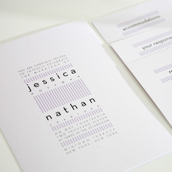 dots modern wedding invitations