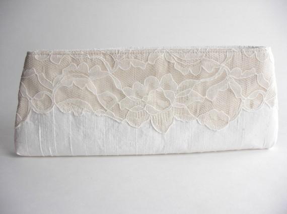 wedding wristlet - modern lacy bridal bag 2