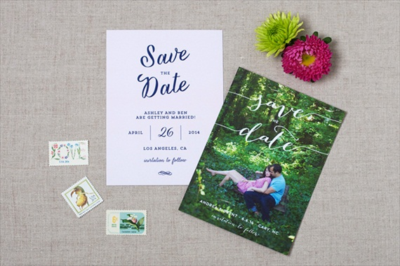 Modern Script - Spring Save the Dates (by Crafty Pie Press)