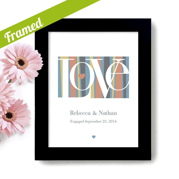 modern wedding theme print love | via wedding prints personalized by theme