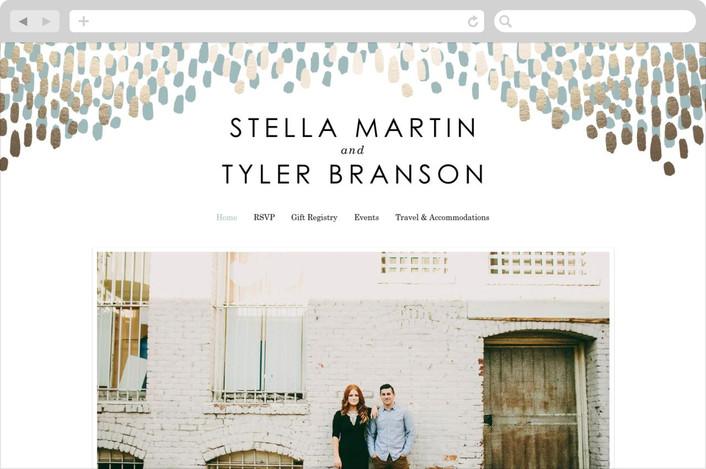 modern wedding website