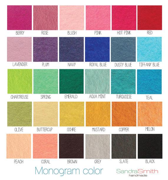 monogram text colors