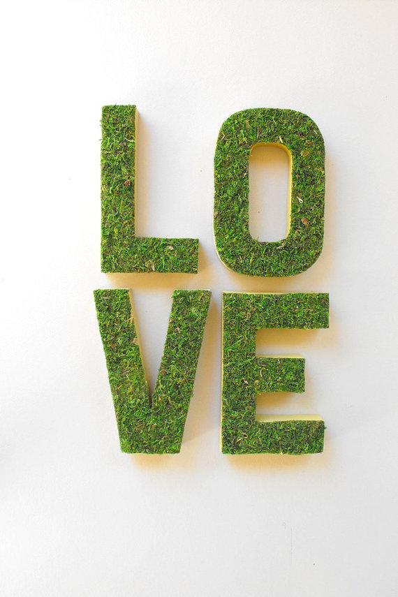 moss wedding ideas - love letters