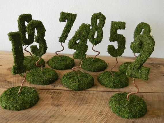 Moss Table Numbers (by Serendipity By Suzanne)