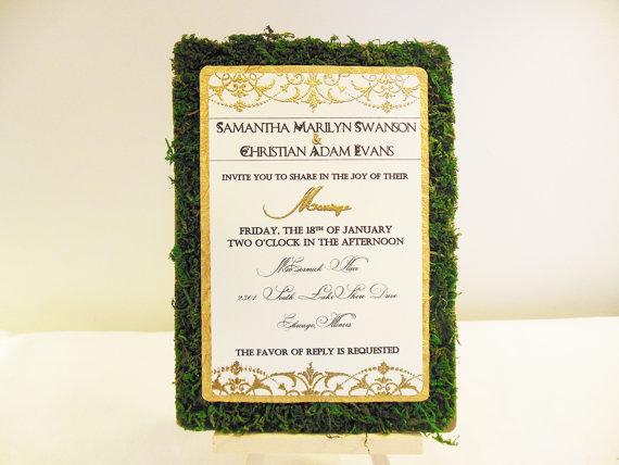 moss wedding ideas - moss invitations