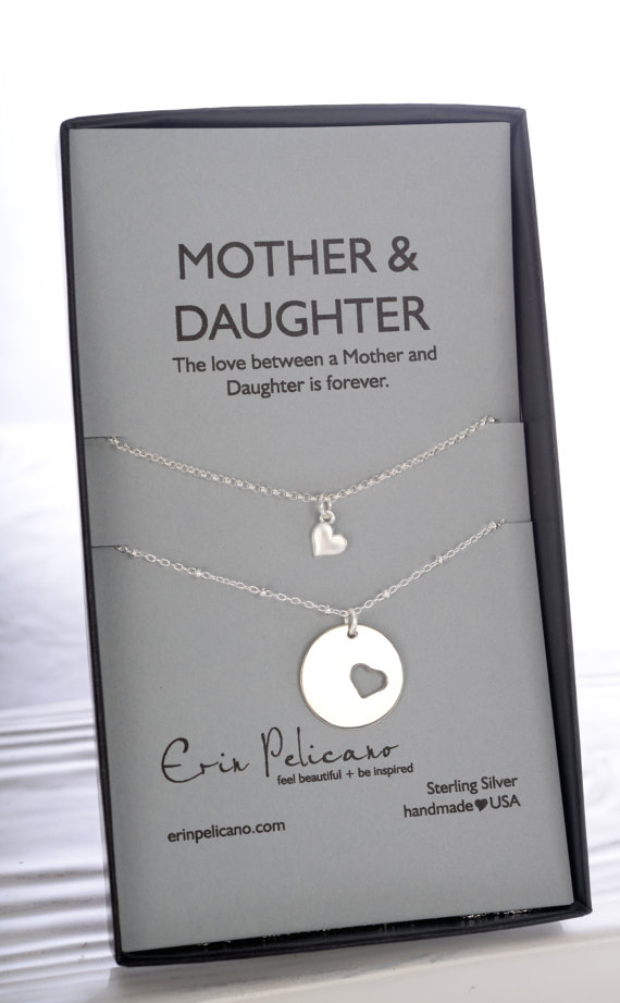 mother daughter necklace duo