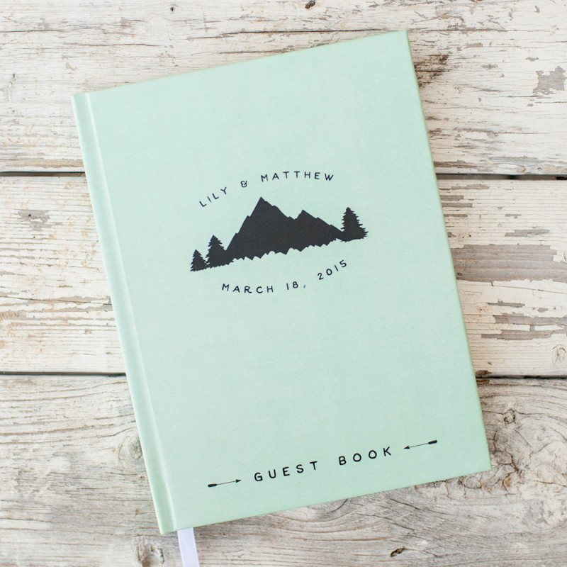 mountains guest book | 50+ Amazing Mountain Wedding Ideas http://emmalinebride.com/rustic/mountain-wedding-ideas/