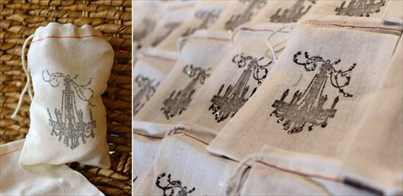 muslin favor bags - wedding favor containers