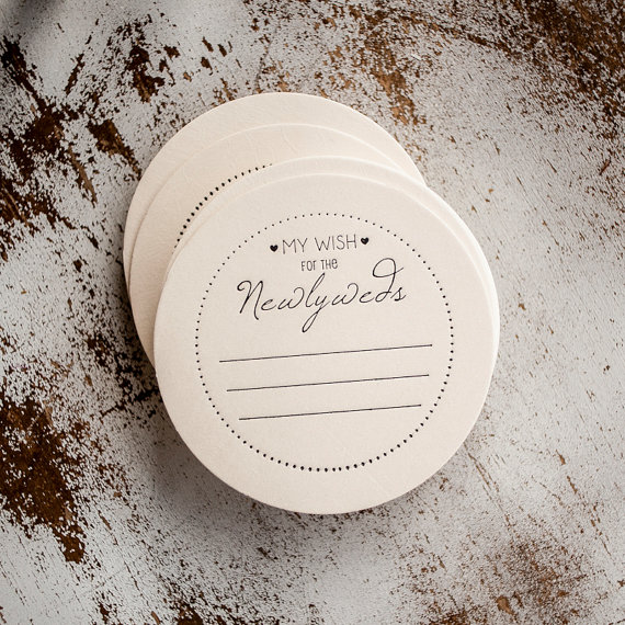 my wish for the newlyweds wedding coasters advice