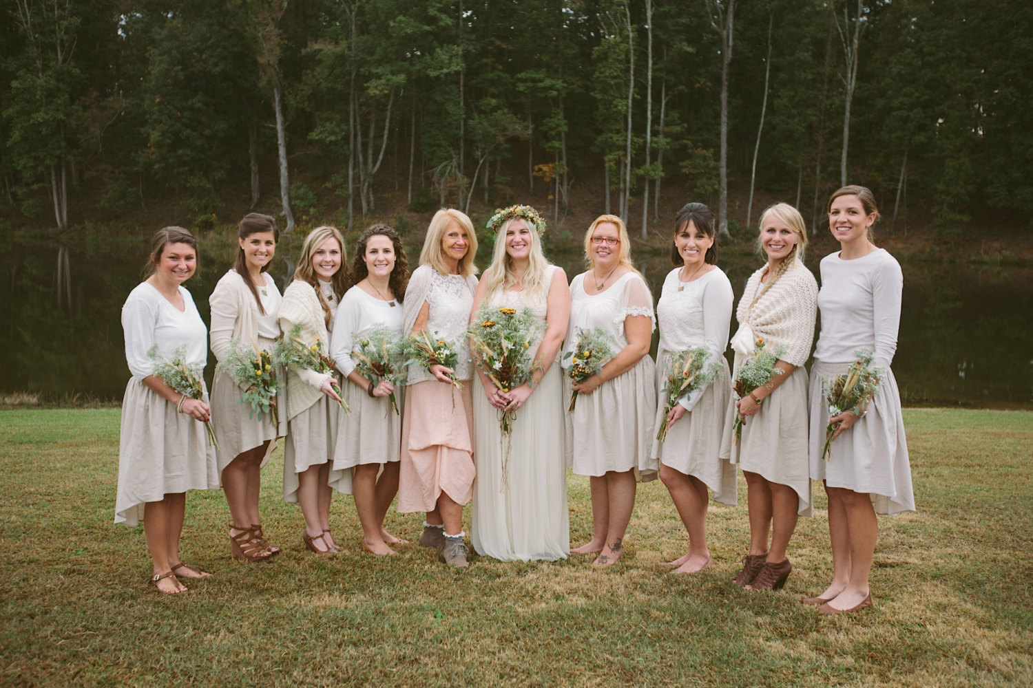 These bridesmaid skirts feature a hi low hem and are available in a variety of colors. | https://emmalinebride.com/bridesmaids/bridesmaid-skirts-hi-low-hem/