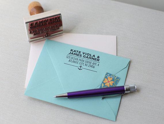 return address stamp nautical design