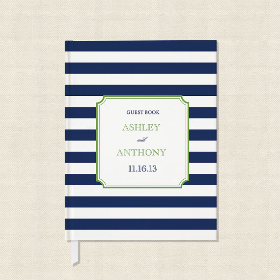Wedding Guest Book - by Crafty Pie Press - nautical