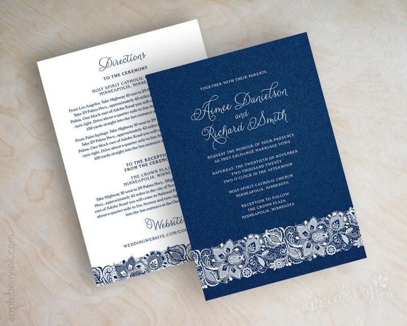 wedding invitations | via https://emmalinebride.com/decor/navy-and-white-wedding-ideas/ | 21 Navy and White Wedding Ideas