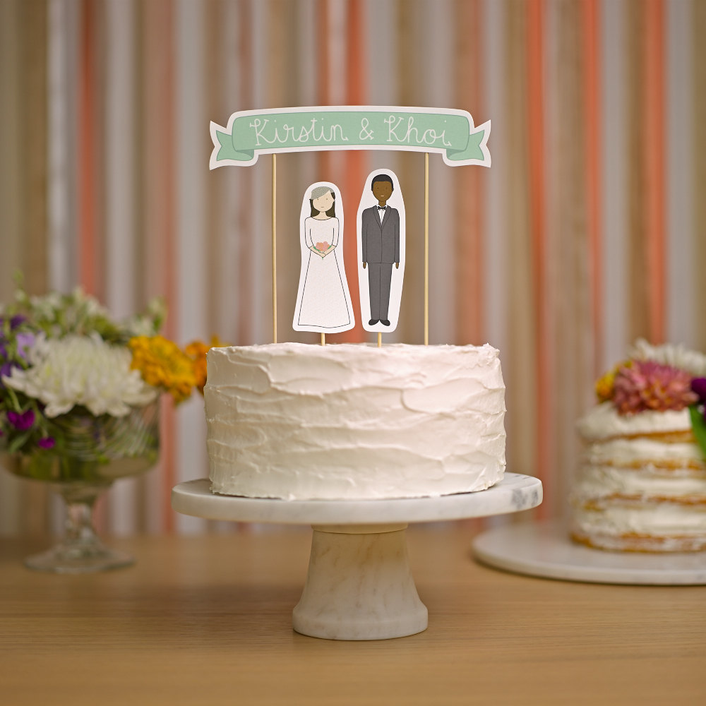 cake toppers that look like you | via https://emmalinebride.com/cake/toppers-that-look-like-you/ | love these! from ready go