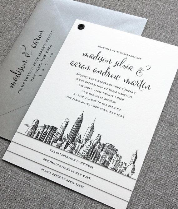 new york wedding invitation - wedding invitation credit + robe giveaway