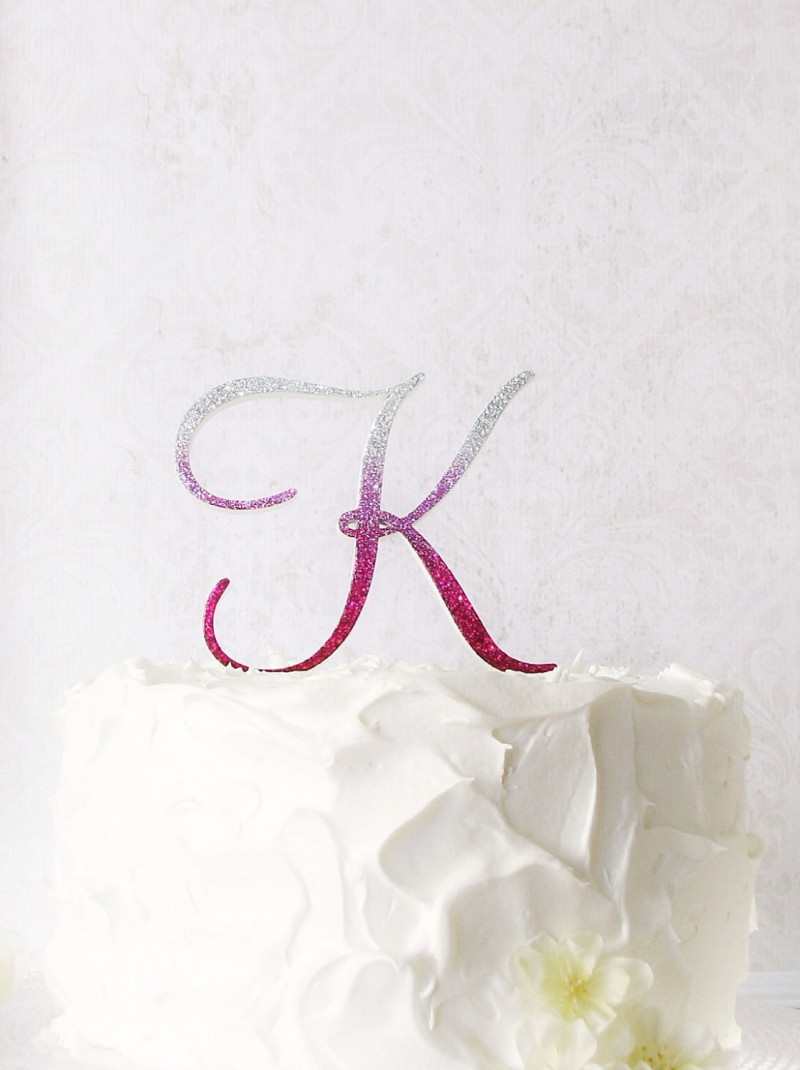 ombre cake topper studio bloom iowa