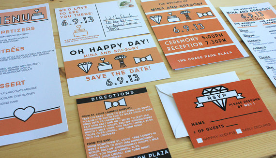 orange wedding invitation - 5 things to know about wedding invitations
