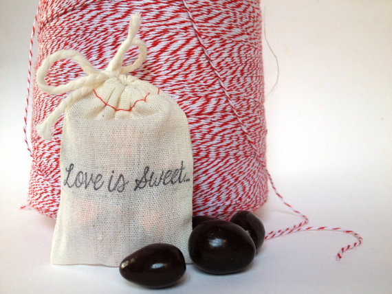 50 Best Bridal Shower Favor Ideas: organic dark chocolate covered almonds (by apropos roasters)