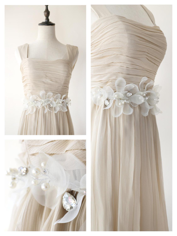ivory flower bridal sash