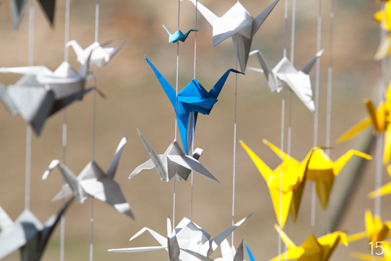 origami wedding crane backdrop