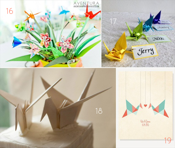 21 Awesome Origami Wedding Ideas