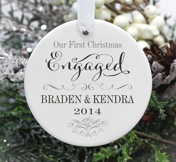 our first christmas engaged ornament by 33marketstreet