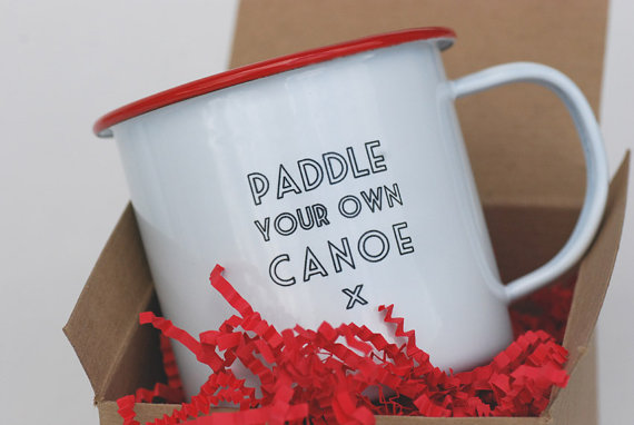 paddle your own canoe mug | 50+ Amazing Mountain Wedding Ideas http://emmalinebride.com/rustic/mountain-wedding-ideas/