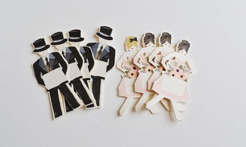 groomsmen bridesmaids paper dolls