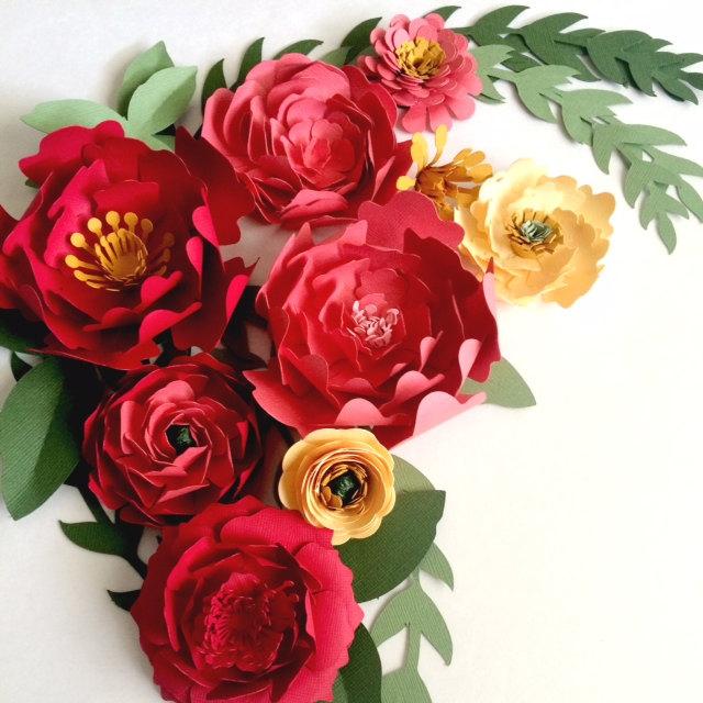 paper flowers left