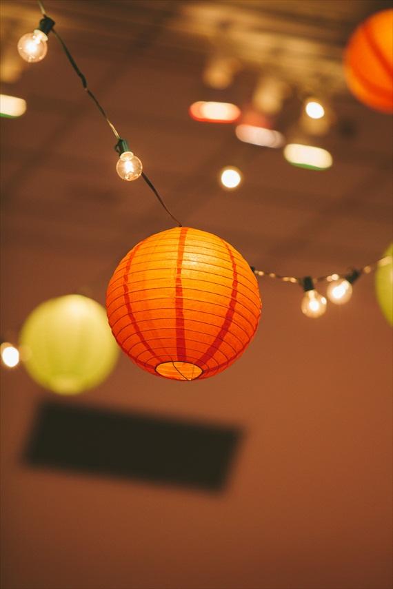 DIY Fall Wedding - Photo by Noelle Ann Photography - #paper #lantern #fall #wedding #decor #reception