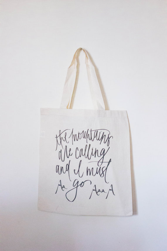 parrischicboutique the mountains are calling and i must go tote bag
