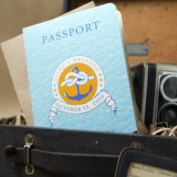 passport cruise invitations - Destination Wedding Invitations