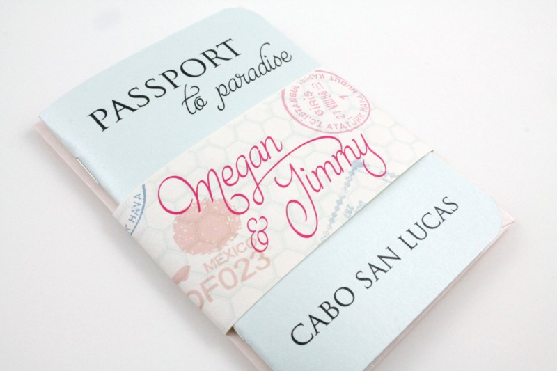 passport style wedding invitation | invitations destination weddings - https://emmalinebride.com/invites/invitations-destination-weddings/