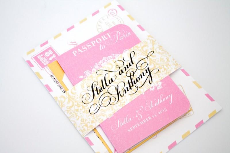 passport to love wedding invitation | invitations destination weddings - http://emmalinebride.com/invites/invitations-destination-weddings/