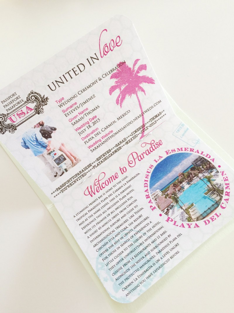 passport invitation | invitations destination weddings - http://emmalinebride.com/invites/invitations-destination-weddings/